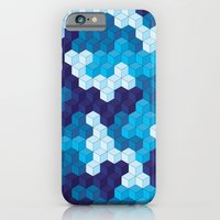 iPhone & iPod Case featuring CUBOUFLAGE BLUE by Oreezy