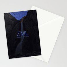 Yosemite's Lower Falls and The Stars Above Stationery Cards