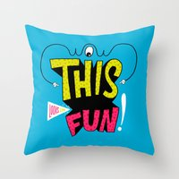 Wow This Looks Like Fun! Throw Pillow