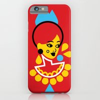 iPhone & iPod Case featuring Goddess in Red by The Pairabirds