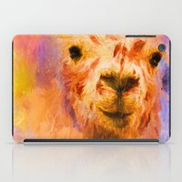 Jazzy Llama Colorful Animal Art by Jai Johnson iPad Case