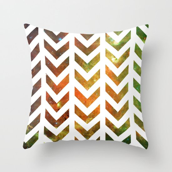 Nebula Chevrons Throw Pillow