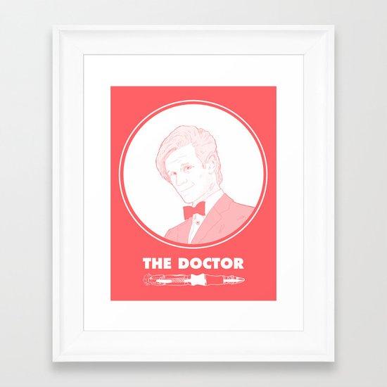 Who? Framed Art Print