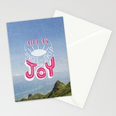 Life is A Single Skip for Joy Stationery Cards