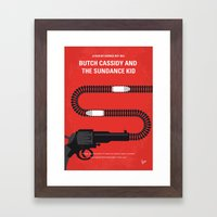 No585 My Butch Cassidy and the Sundance Kid minimal movie poster Framed Art Print