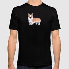 Corgi dog Mens Fitted Tee SMALL Black