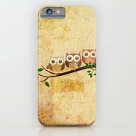 iPhone & iPod Case featuring Vintage Owls by MJ'designs