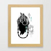 Mèche Framed Art Print