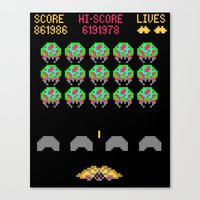 Zebes Invaders Canvas Print
