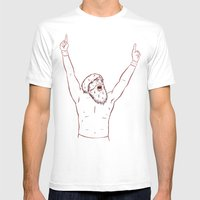 YES Mens Fitted Tee White SMALL