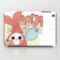 Aqua cat_ Rappa iPad Case