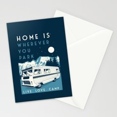 retro vintage camper love camping wilderness Stationery Cards