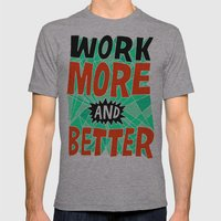 More & Better Mens Fitted Tee Athletic Grey SMALL