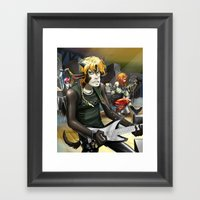 Electric Gramophone Live Framed Art Print