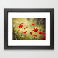 Wild Anemones Framed Art Print