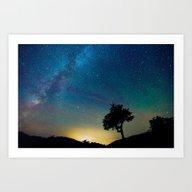 A Tree Under The Stars Art Print