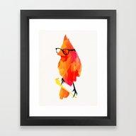 Punk Bird Framed Art Print
