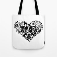 Baybeh Heart Haiku Tote Bag