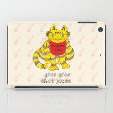 Big Fat Yellow Cat iPad Case