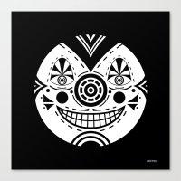 Priest Circle- Black On … Canvas Print