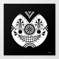 Priest Circle- black on black Canvas Print