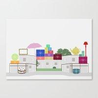 Garage Sales Canvas Print