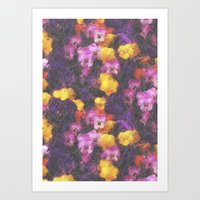 Violets And Pearls Art Print