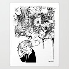 A Heavy Heart Art Print