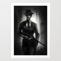 DA Noire - Cassandra  Art Print