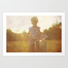 Little Silhouette Art Print
