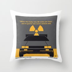 No183 My Back To The Fut… Throw Pillow