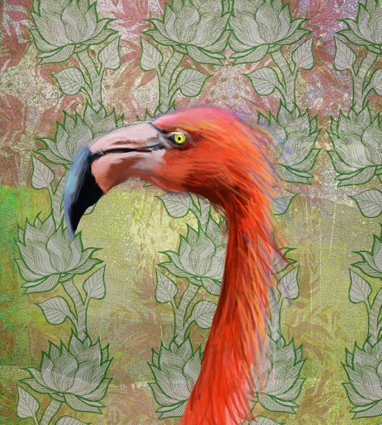 Red big bird Art Print