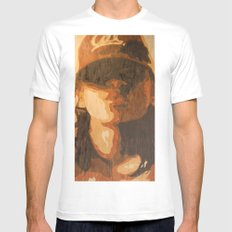 Kisses White SMALL Mens Fitted Tee