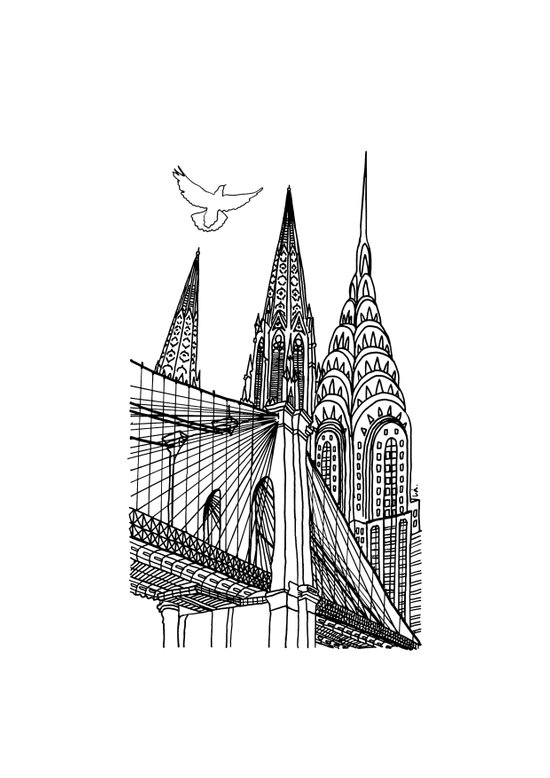 NYC Silhouettes Art Print