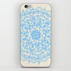 Pale Blue Pencil Pattern - hand drawn lace mandala iPhone & iPod Skin