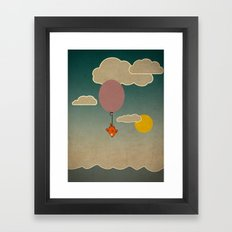 The flying fish Framed Art Print