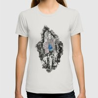 Haunted Womens Fitted Tee Silver SMALL