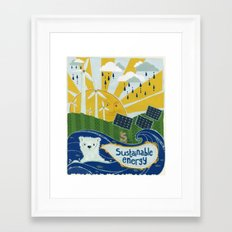 Sustainable stuff Framed Art Print
