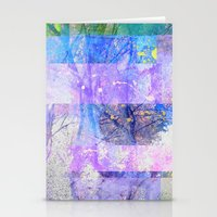 Glitched Tree Canopy Stationery Cards