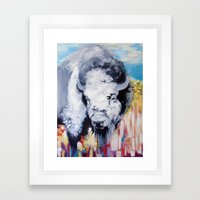 Blue Buffalo Framed Art Print