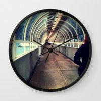 Onward Into The Tunnel F… Wall Clock