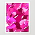 Pink for Poppies Art Print