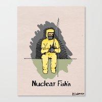 Nuclear Fish'n Canvas Print