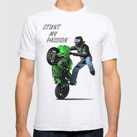 Stunt My Passion Mens Fitted Tee Ash Grey SMALL