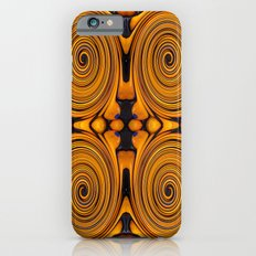 Orange fruit twirl iPhone 6s Slim Case