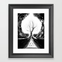 Triforce Roots Framed Art Print