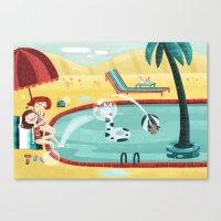 SUMMER MEMORIES WITH MY BEST FRIEND Canvas Print