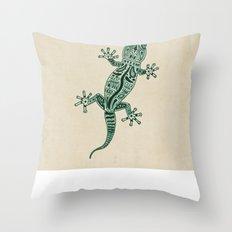Ornate Lizard Throw Pillow