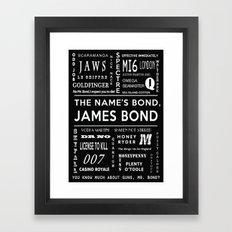 Bond in Black Framed Art Print
