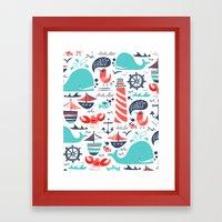 Ahoy Matey Framed Art Print